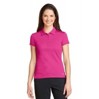 Nike Golf Ladies Dri-FIT Solid Icon Pique Modern Fit Polo.