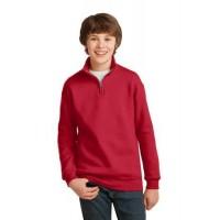 JERZEES® Youth NuBlend®; 1/4-Zip Cadet Collar Sweatshirt