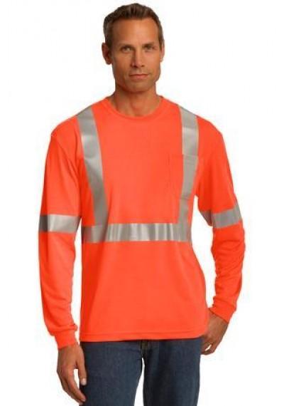 CornerStone® ANSI 107 Class 2 Long Sleeve Safety T-Shirt.