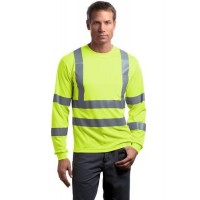 CornerStone® - ANSI 107 Class 3 Long Sleeve Snag-Resistant Reflective T-Shirt