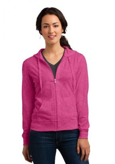 District® Juniors Jersey Full-Zip Hoodie