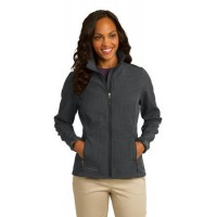 Eddie Bauer® Ladies Shaded Crosshatch Soft Shell Jacket.