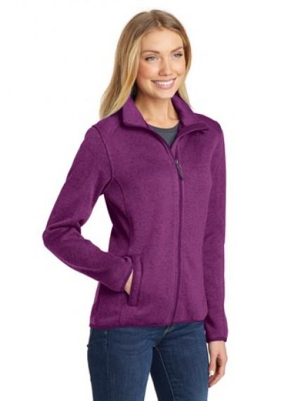 Port Authority® Ladies Sweater Fleece Jacket