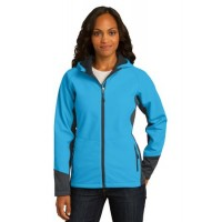 Port Authority® Ladies Vertical Hooded Soft Shell Jacket