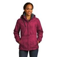 Port Authority® Ladies Brushstroke Print Insulated Jacket.