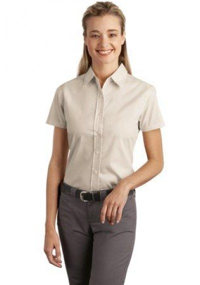 Port Authority® Ladies Short Sleeve Easy Care, Soil Resistant Shirt.