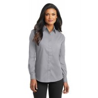 Port Authority® Ladies Long Sleeve Value Poplin Shirt.