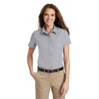 Port Authority® Ladies Short Sleeve Value Poplin Shirt