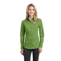 Port Authority® Ladies Stretch Poplin Shirt.