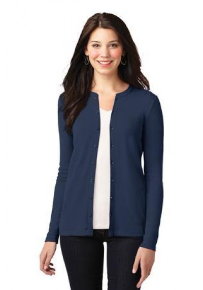 Port Authority® Ladies Concept Stretch Button-Front Cardigan.