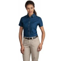 Port & Company® - Ladies Short Sleeve Value Denim Shirt.