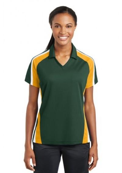Sport-Tek® Ladies Tricolor Micropique Sport-Wick®Polo
