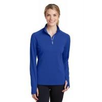Sport-Tek® Ladies Sport-Wick® Textured 1/4-Zip Pullover