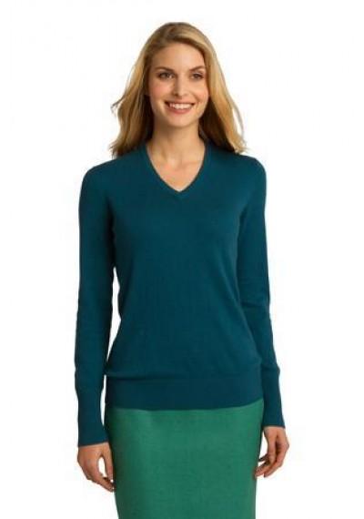 Port Authority® Ladies V-Neck Sweater.