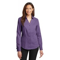Red House® - Ladies French Cuff Non-Iron Pinpoint Oxford Shirt