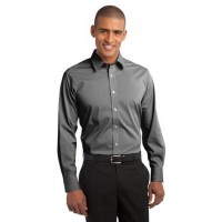 Port Authority® Fine Stripe Stretch Poplin Shirt