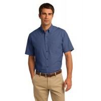 Port Authority® Short Sleeve Crosshatch Easy Care Shirt