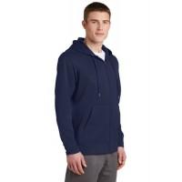 Sport-Tek® Sport-Wick® Fleece Full-Zip Hooded Jacket