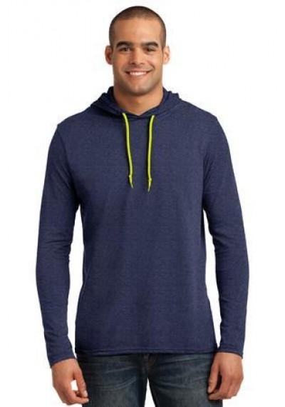 Anvil® 100% Ring Spun Cotton Long Sleeve Hooded T-Shirt