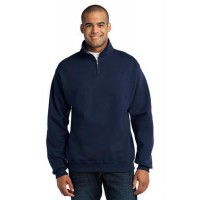 JERZEES® - NuBlend®; 1/4-Zip Cadet Collar Sweatshirt