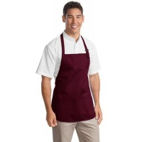 Port Authority® Medium Length Apron with Pouch Pockets