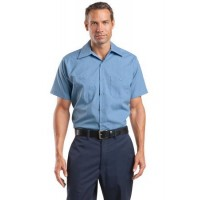 Red Kap® Long Size, Short Sleeve Striped Industrial Work Shirt