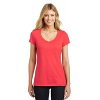 District Made® Ladies Shimmer V-Neck Tee