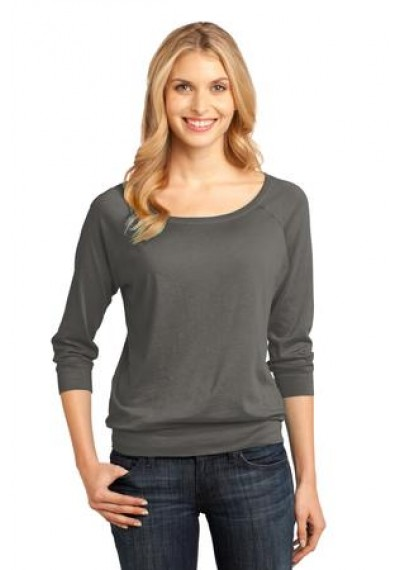 District Made® Ladies Modal Blend 3/4–Sleeve Raglan