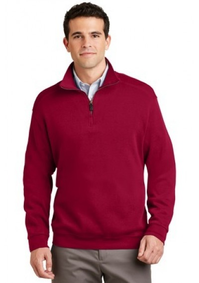 Port Authority® Flatback Rib 1/4-Zip Pullover.