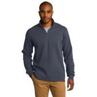 Port Authority® Slub Fleece 1/4-Zip Pullover.