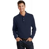 Port Authority® Long Sleeve Heavyweight Cotton Pique Polo.