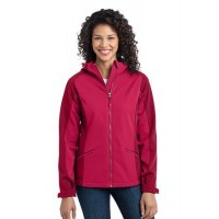 Port Authority® Ladies Gradient Hooded Soft Shell Jacket