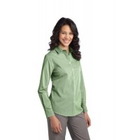 Port Authority® Ladies Fine Stripe Stretch Poplin Shirt