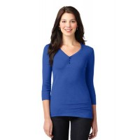 Port Authority® Ladies Concept Stretch 3/4-Sleeve Scoop Henley
