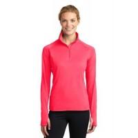 Sport-Tek® Ladies Sport-Wick® Stretch 1/2-Zip Pullover.