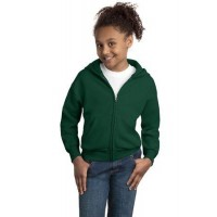 Hanes® - Youth EcoSmart® Full-Zip Hooded Sweatshirt.