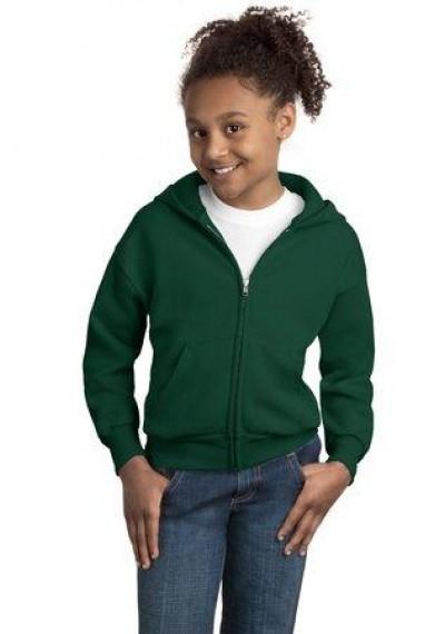 Hanes® - Youth EcoSmart® Full-Zip Hooded Sweatshirt.