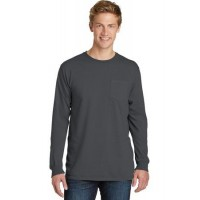 Port & Company® Pigment-Dyed Long Sleeve Pocket Tee.