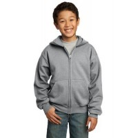 Port & Company® - Youth Core Fleece Full-Zip Hooded Sweatshirt