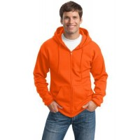 Port & Company® - Essential Fleece Full-Zip Hooded Sweatshirt.