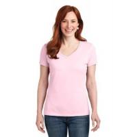 Hanes® Ladies Nano-T® Cotton V-Neck T-Shirt.