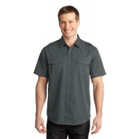 Port Authority® Stain-Resistant Short Sleeve Twill Shirt