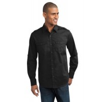 Port Authority® Stain-Resistant Roll Sleeve Twill Shirt