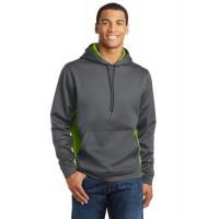 Sport-Tek® Sport-Wick® CamoHex Fleece Colorblock Hooded Pullover.