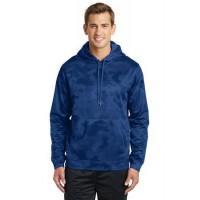 Sport-Tek® Sport-Wick® CamoHex Fleece Hooded Pullover.