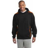Sport-Tek® Sleeve Stripe Pullover Hooded Sweatshirt.