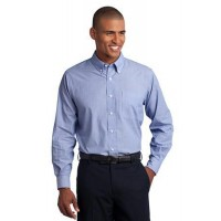 Port Authority® Tall Crosshatch Easy Care Shirt.