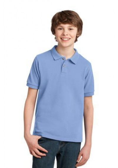 Port Authority® Youth Heavyweight Cotton Pique Polo
