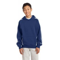 Sport-Tek® Youth Sleeve Stripe Pullover Hooded Sweatshirt