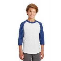 Sport-Tek® Youth Colorblock Raglan Jersey.